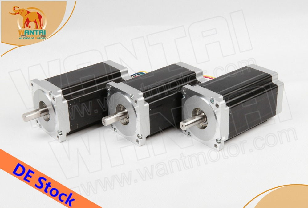 Ship From Germany! Wantai 3PCS Nema34 Stepper Motor WT86STH118-6004A 1232oz-in 5.6A 118mm 4-Lead CNC Router Laser PlasticShip From Germany! Wantai 3PCS Nema34 Stepper Motor WT86STH118-6004A 1232oz-in 5.6A 118mm 4-Lead CNC Router Laser Plastic