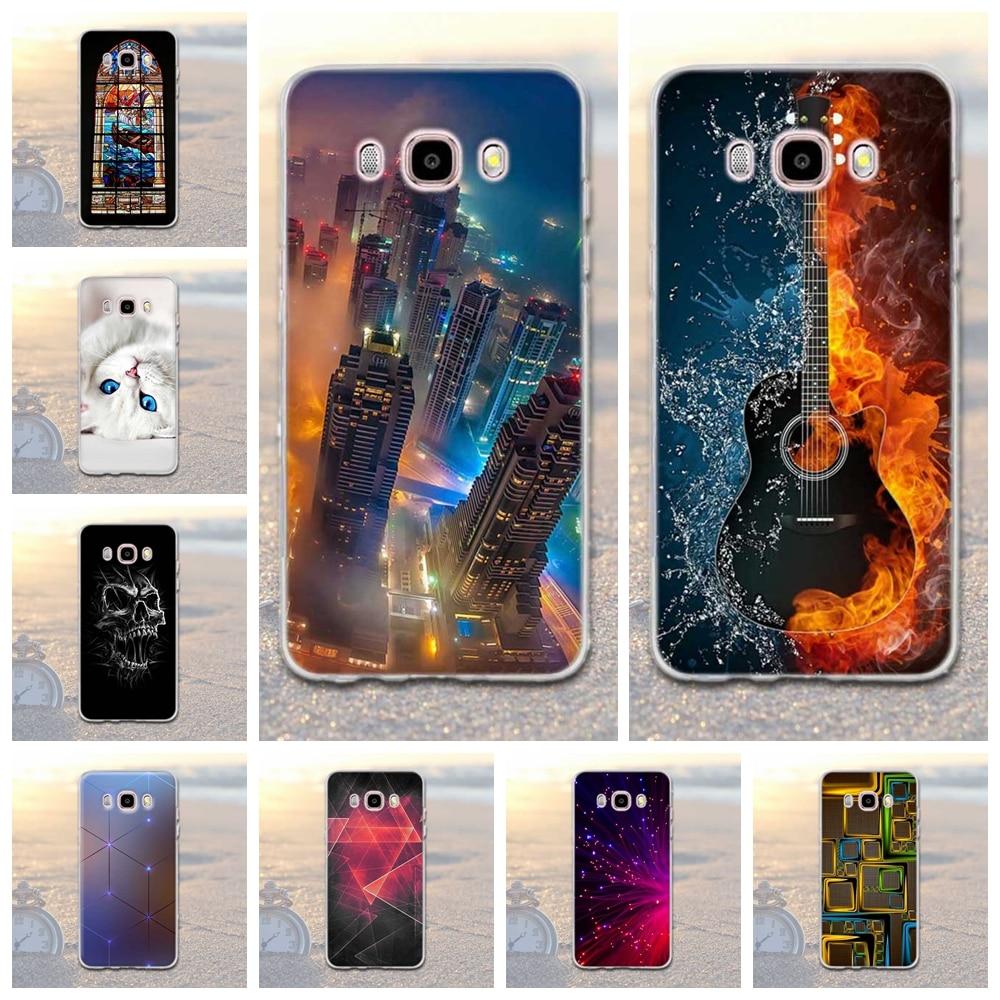 Galleria fotografica For Samsung Galaxy J5 2016 J510 J510F SM-J510F Cover 3D Relief Soft TPU Case For Samsung J5 2016 J510 sm-j510f j510fn Case Bags