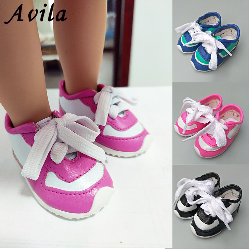 7cm Doll Shoes For 18 Inches Ameican Doll 43cm Reborn Soft High Quality Sport Shoes With Socks Suit 1/3 BJD Doll Accessories