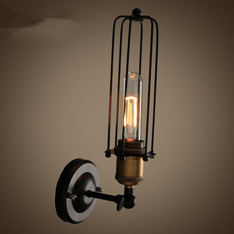 Vintage retro lights wall lamps metal pomelo cage lampshade Indoor lighting Bar and restaurant light fixture