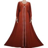Nieuwe Aankomst Islamitische Moslim kant Abaya voor Vrouwen Lange maxi Abaya 2015 Maleisië Abaya in Dubai Turkse Dames Kleding