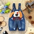 9 М-3 Т 3D Собака Ребенок Летние Джинсы Комбинезоны Мальчиков Короткий Комбинезон Мальчиков Джинсовые Комбинезоны Детские лето Симпатичные Животные Одежда