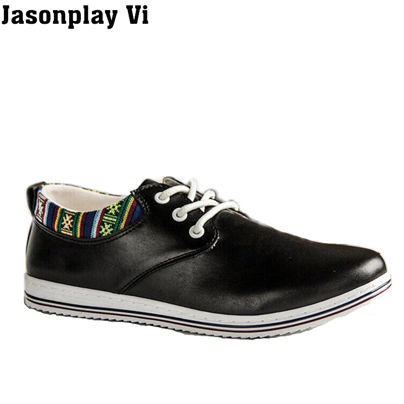 ФОТО Jasonplay Vi & new brand 2016 shoes men Breathable  leather shoes Autumn fashion traveling comfortable men shoes size39-44 WZ99