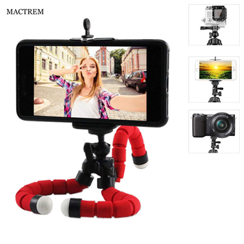 MACTREM Mini Sponge Octopus Flexible Light Weight Tripod Phone Holder For iPhone Android Gopro Selfie Travel Tripod