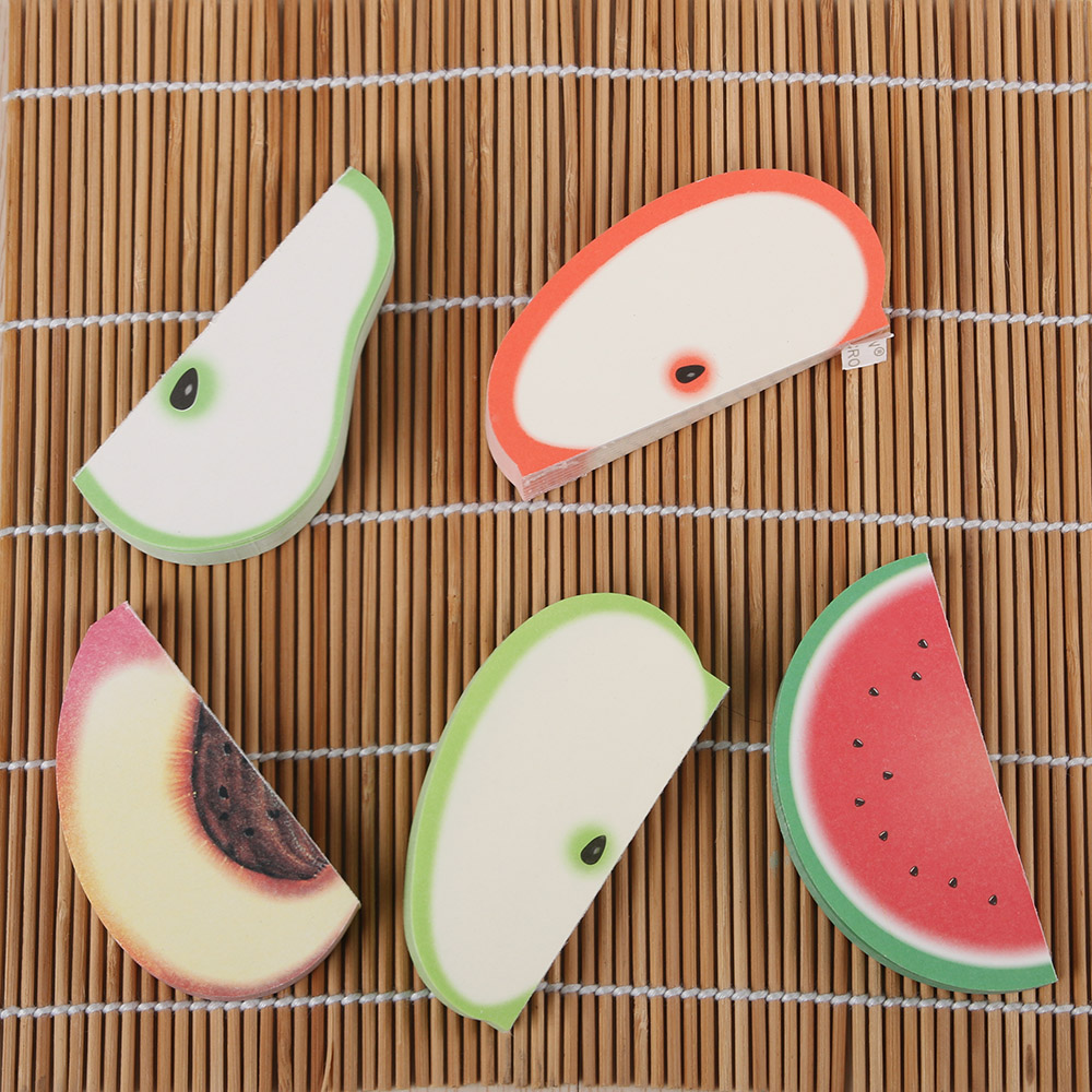 Fruit Sticker Pads - Watermelon/Peach/Pear/Apple 1