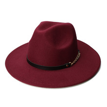 LUCKYLIANJI Retro Kid Child Vintage 100 Wool Wide Brim Cap Fedora Panama Jazz Bowler Hat Balck