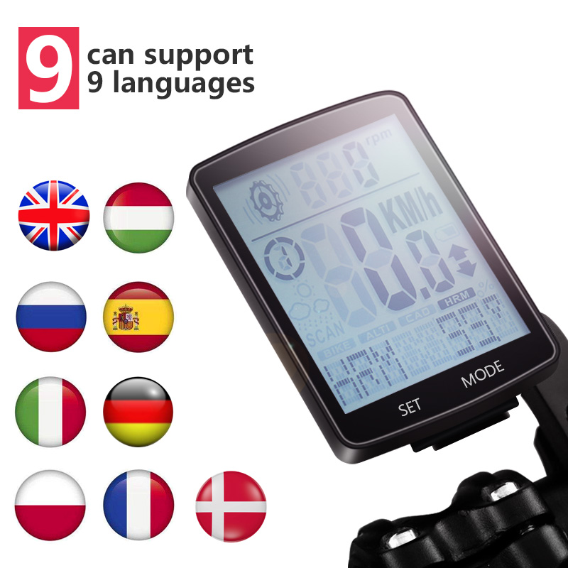 9 Language Bike Speedometer For Bicycle Computer Waterproof Wireless Stopwatch MTB Road Cycling Odometer Bicycle Speedometer cateye bicycle computer wired bike speedometer with cadence sensor mtb rode bike stopwatch computer speedometer for bicycle