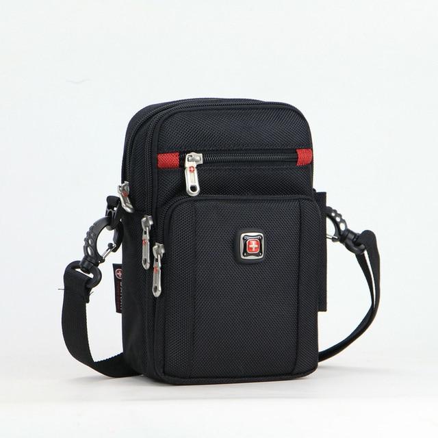 af6e38044d13 Men Small Waist Bag + Shoulder Bag Multifunction Messenger Fanny Pack Belt  Travel for Mobile Cell Phone 232120DL