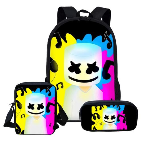 2019-Newest-School-Bags-DJ-Marshmello-Schoolbag-Set-for-Students-Anime-Style-Shoulder-Backpack-Leisure (2)