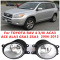 for TOYOTA RAV 4 III (ACA3 ACE ALA3 GSA3 ZSA3) 2006-2012 high brightness Front bumper halogen fog lights Car styling 81210-0D040