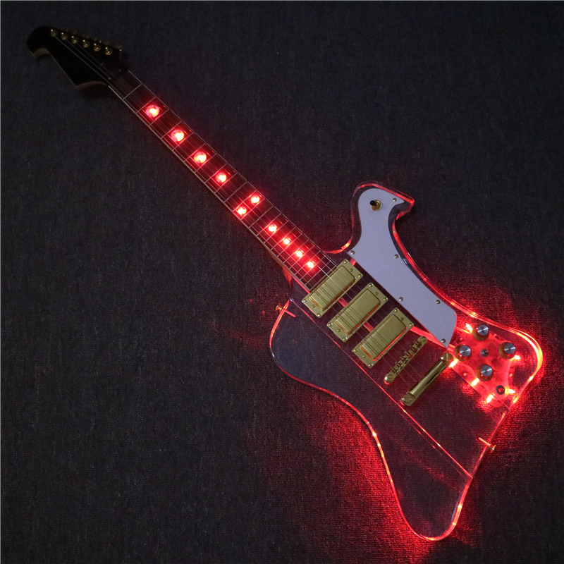 afanti music mini pickups acrylic body firebird electric guitar with red led lights pag 141 in. Black Bedroom Furniture Sets. Home Design Ideas