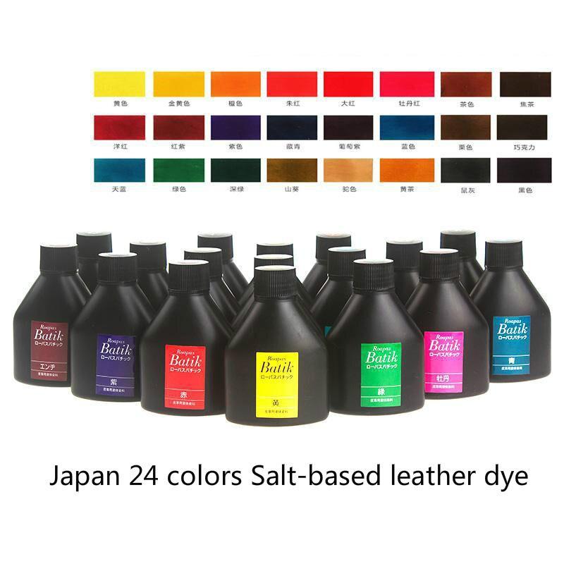 Japón importó Seiwa marca 24 colores 100 ml basados en sal cuero teñido de cuero curtido vegetal teñido agente