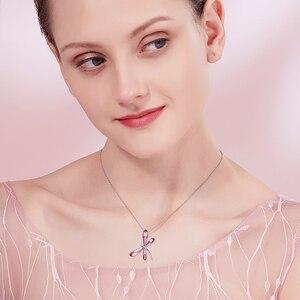 Image 2 - אפין חמוד ורוד שפירית תליון שרשראות שרשרת ארוכה מקסי קולרים קריסטלים סברובסקי תכשיטים עבור בנות נשים