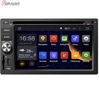 Topnavi 6.2'' Octa Core 4GB RAM Android 6.0 Car Radio Stereo GPS for 2 din Universal Audio DVD Player