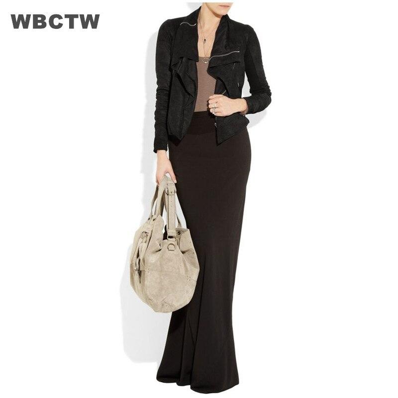 Vintage Saias Longa Skirts 2017 Spring Summer Plus Size 6XL 7XL Jupe Floor-Length Black Cotton Womens Skirts