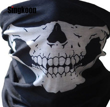 Hot Sell Motorcycle Mask Balaclava Face Masks Neck Scarf Skull Ghost Mask Biker Motorbike Cycling Fishing Climbing Face Shield new hot ghost skull motorcycle full face mask balaclava for motorbike cycling windproof breathable airsoft game cosplay mask