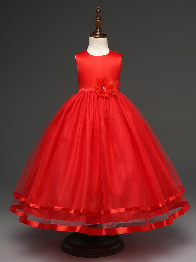 Neue Stil Hochzeit Kleider für Kinder Prinzessin Blume Kleine ...