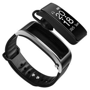 Image 1 - ניטור קצב לב מד צעדים smart watch Y3 חכם צמיד Bluetooth אוזניות 2 ב 1 טלפון שיחות להזכיר smart watch גברים