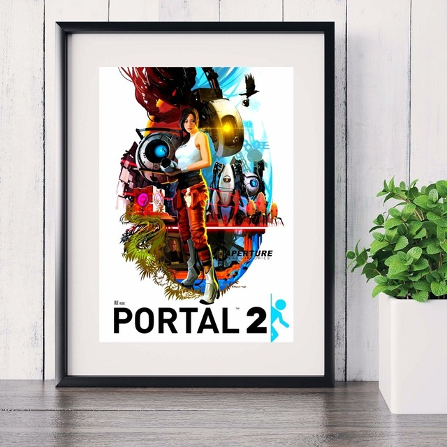 Portal 2 Game Style Vintage Canvas Art Print Painting Poster Wall Pictures For Living Room Home Decoration Decor No Frame 2