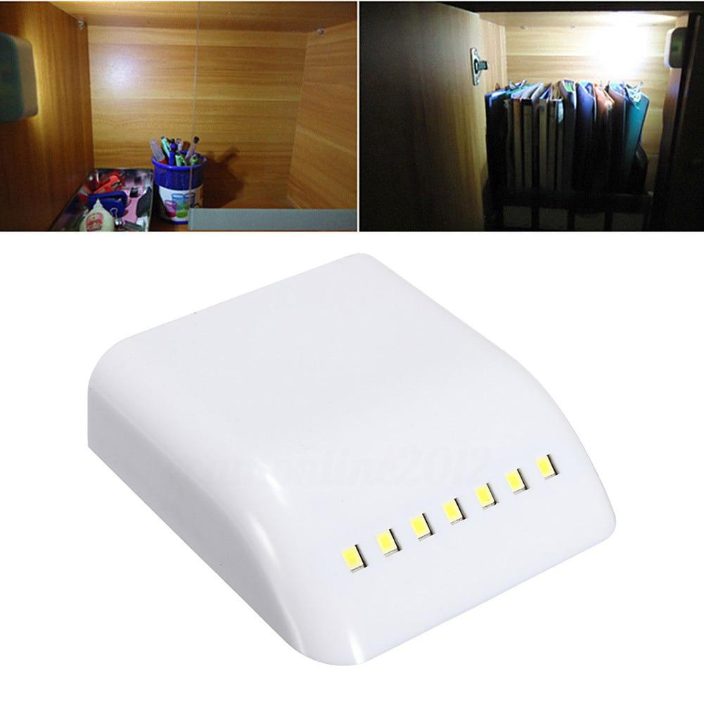 12V LED Night Light Montion Sensor Cabin Lamp Inner Hinge Cabinet Wardrobe Drawer Battery Powered Lights Door Auto-switch Sensor