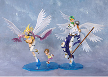 Digital Monster digimons Angewomon&Hikari / Angemon&Takeru Action Figure no box 22cm (Chinese Verson)