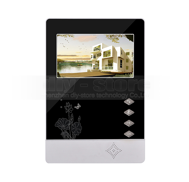 DIYSECUR 4.3 inch Indoor Monitor + 600 TVLine HD Camera IR Night Vision Video Door Phone Video Intercom 1V5