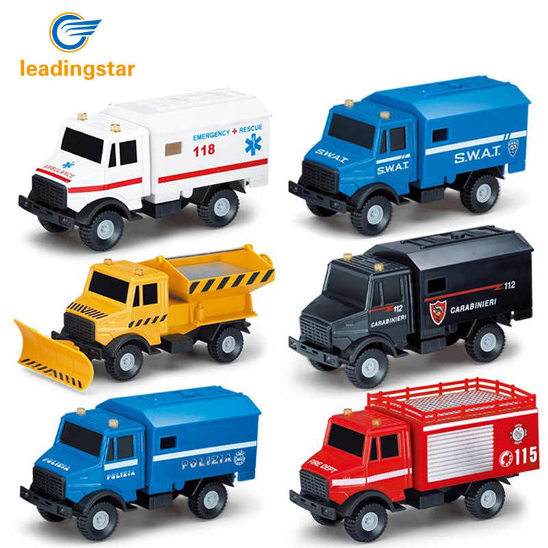 LeadingStar Children Boys Alloy Transport Vehicle Truck Ambulance Car Model High Simulated Model Toy zk25