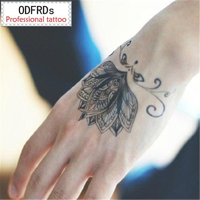 Waterproof Temporary Tattoo Tatoo Henna Fake Flash Tattoo Stickers Taty Tatto Tatuagem Tattoos Tatuajes A Lotus Blossom SYA064
