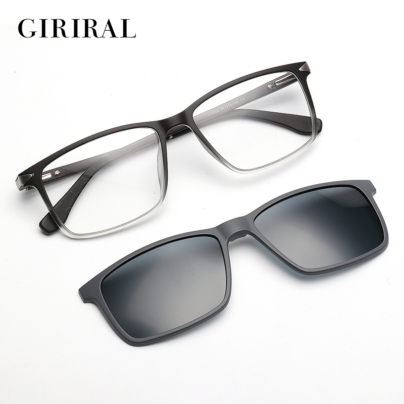 UV400 Men Sunglass Dual purpose night driving brand TR90 mirror glasses #LJ-808