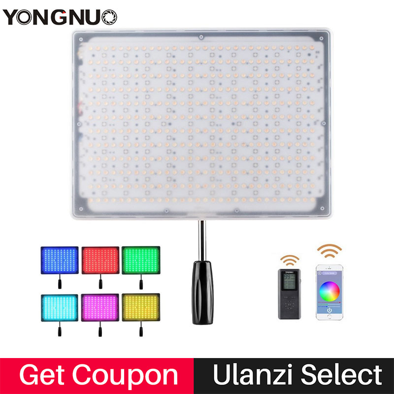 Ulanzi Yongnuo YN600 RGB Led Video Light Bluetooth Control by phone APP Studio Lighting 3200K 5500K
