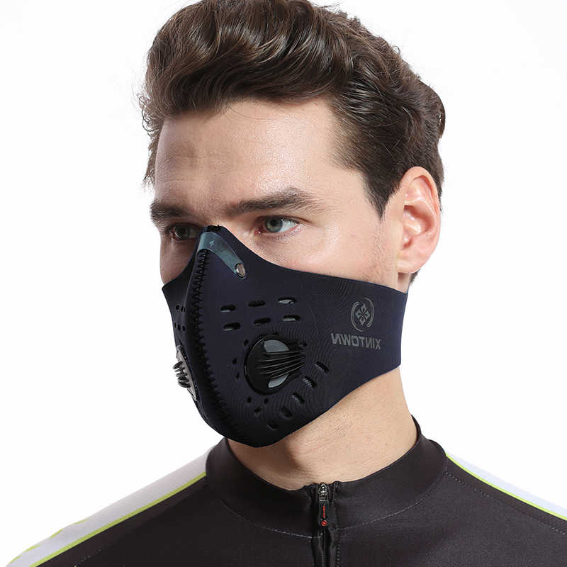 40b0642f ... XINTOWN Men/Women Activated Carbon Dust-proof Cycling Face Mask Anti-Pollution  Bicycle ...
