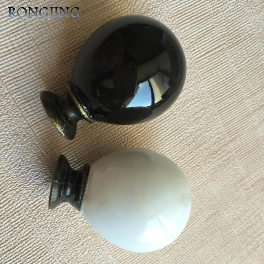 5pcs Ceramic Kitchen Cabinet Drawer Knobs Porcelain Kids Wardrobe Handles Furniture Bedroom Dresser Closet Cupboard Rural Pulls