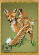 Kit de point de croix, charmant compté, lot de point de croix, Renard le Roux fox, animal féerique Nimue, livraison gratuite