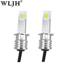 WLJH 2x Canbus LED Fog Light Bulbs H1 LED 6000K High Bright Auto Driving Fog Light Bulb Low Beam Headlamp Headlight LED For Kia