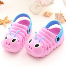 children garden shoes Cute Cartoon Caterpillar Beach Sandals babies summer slippers high quality kids Slippers Flip Shoes #XTN(China)