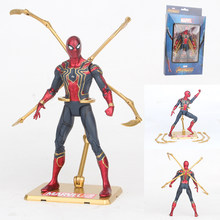 Infinito de 15 cm Vingadores Ferro Guerra Aranha Spiderman Homem Aranha Figura Collectible Modelo Toy Action Figure PVC(China)