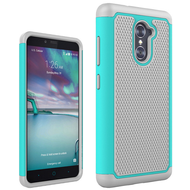 the best attitude 1f803 e4e6a US $3.54 11% OFF|TopArmor Case For ZTE Imperial Max Z963U Phone case rubber  cushion bumper dual armor cover shock proof Case For ZTE Z963U Case-in ...
