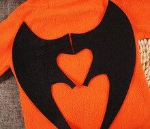 Infant Baby set Boys Girls Halloween Clothes Pumpkin Hooded Romper Jumpsuit Toddler