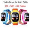 100% original q90 touch screen wifi posicionamento do bebê smart watch crianças monitor de chamada sos localização anti perdeu crianças rastreador gps
