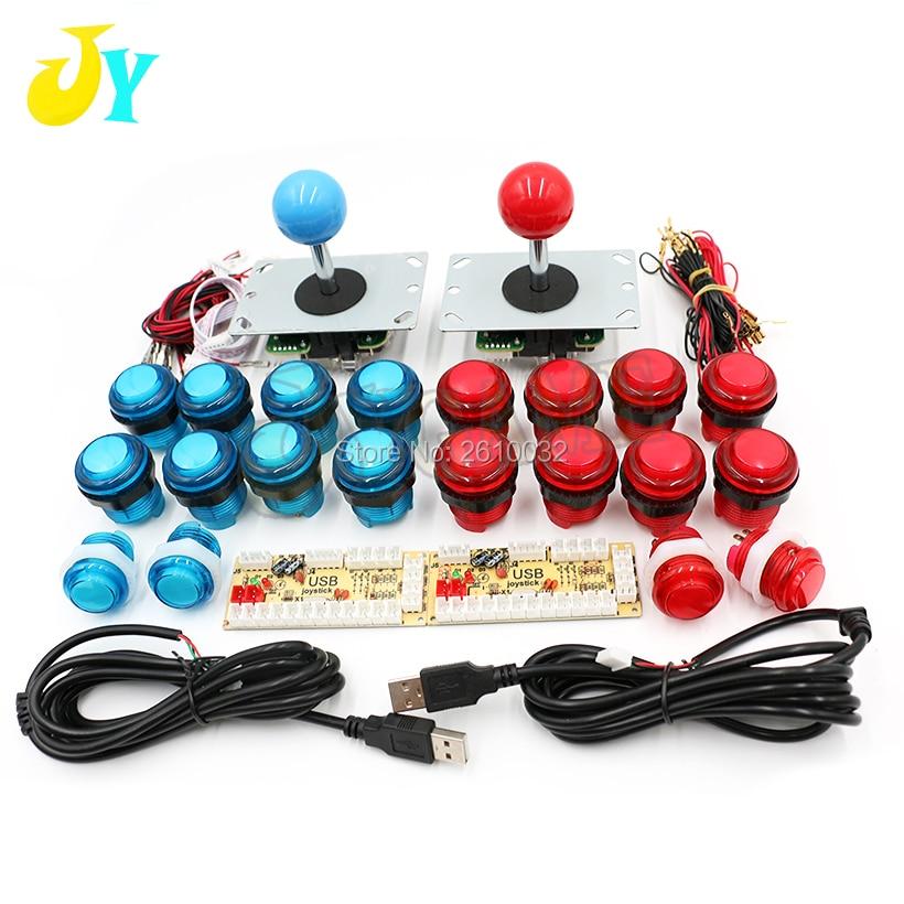 HOT SALE] 2 Players Delay Joystick Arcade DIY Kit Parts LED