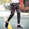 Т дешевые оптовая 2016 новый мужской летние тонкие лодыжки длина брюки подростковые Камуфляж узкие брюки пункт случайные штаны
