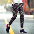 T cheap wholesale 2016 new male summer thin ankle length trousers teenage Camouflage skinny pants paragraph casual pants