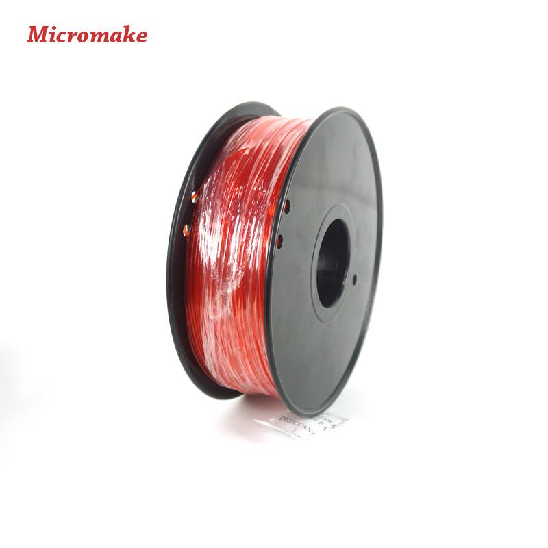 Prix pour Micromake 3D Imprimante Filament Haute Qualité PLA Matériaux 1.75mm pour Imprimante 3D 1 kg de L'environnement Consommables