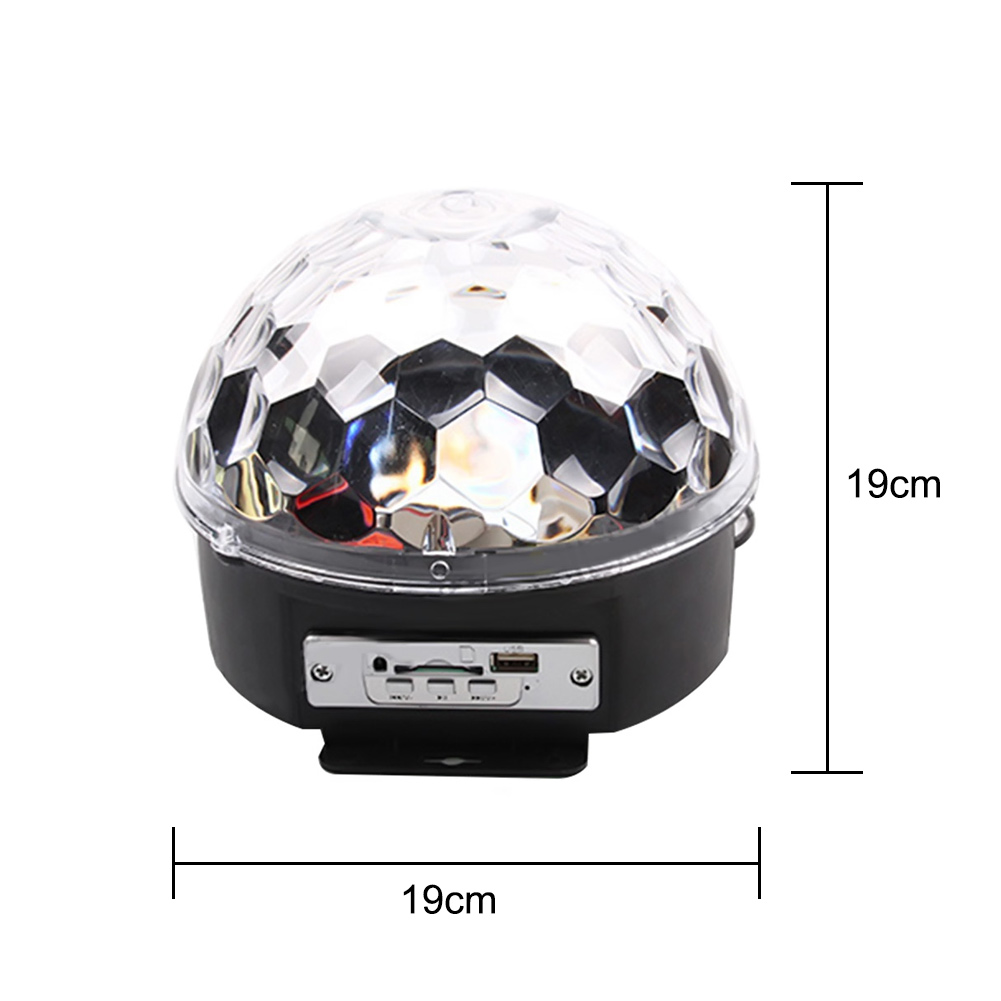 Mini LED RGB Crystal Magic Ball Light Lamp 6*3W LEDs Rotating Voice Control Disco DJ Stage MP3 Lighting Remote Control Light 6w e27 led stage light rgb lamp with voice activated mp3 projector crystal magic ball rotating disco dj party stage lighting