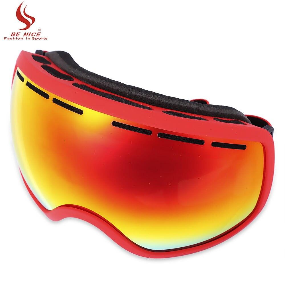 BENICE Unisex UV Protection Anti fog Big Skiing Goggles Men Women font b Snowboarding b font
