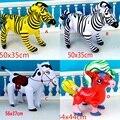 1 pc Inflável Cavalo Zebra Animal Forma aBlow up Party Favor Decoração Piscina Toy Kids Presente
