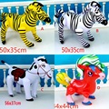 1pc Inflatable Zebra Horse Animal Shape aBlow up Party Favor Decor Pool Kids Toy Gift