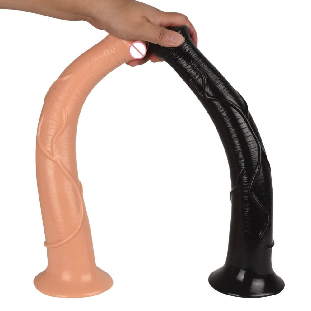 Super Thick Huge Dildos 42*6.5CM Lengthen Big Realistic Horse Dildo With Suction Cup Penis Dick Sex Toys for Women Sex Product. howosex super thick huge dildo 270 60mm extreme big dildos realistic sturdy suction cup penis dick dong sex toys for women