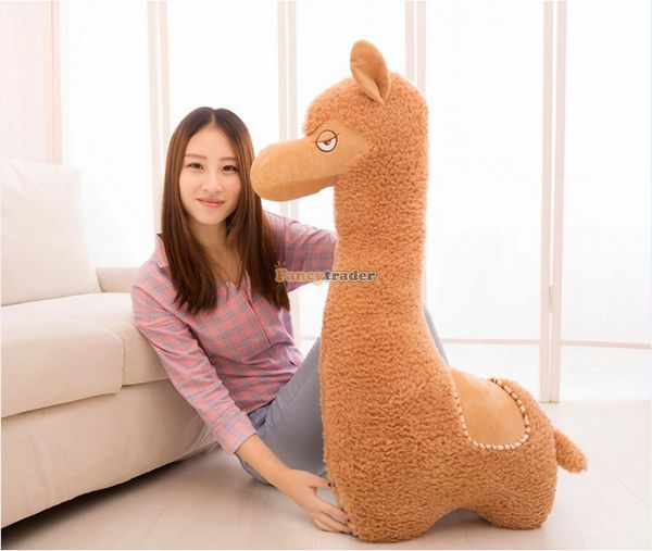 Fancytrader 43'' / 110cm Super Cute Soft Stuffed Giant Alpaca Toy,  Best Gift for Lover, Decoration Toys, Free Shipping FT50088 super cute plush toy dog doll as a christmas gift for children s home decoration 20
