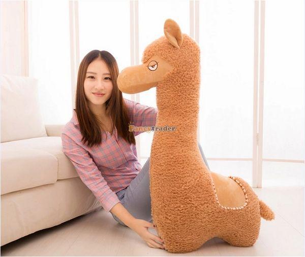 Fancytrader 43 ''/110 cm Super mignon jouet en alpaga géant en peluche, meilleur cadeau pour amoureux, jouets de décoration, livraison gratuite FT50088